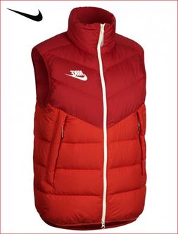 🔥100% Auth Nike Down Vest/Gilet in a Strong Gym Red & Hab