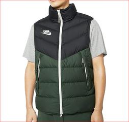 🔥100% Auth Nike Down Vest/Gilet in a Strong Green-Black a