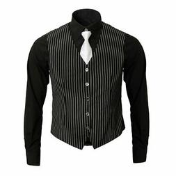 1920s Adult Men's Gangster Shirt Vest and Tie Costume Access