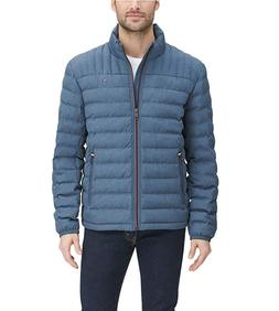 $195 Tommy Hilfiger Packable Down Quilted Logo Jacket Coat M