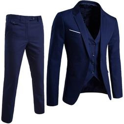 2019 <font><b>Men's</b></font> Fashion Slim Suits <font><b>M