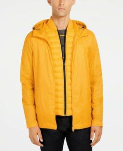 $295 TOMMY HILFIGER Men's YELLOW QUILTED COAT PACKABLE PUFFE