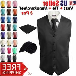 3pcs set men s formal vest slim