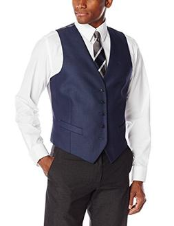 Perry Ellis Men's 5 Button Suit Separate Vest, Blue, Large