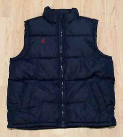 $70 U.S. Polo Assn. Men's Basic Puffer Vest - Size Medium