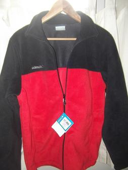 Men's Columbia Red anfd Black Flattop Ridge Fleece Jacket Si