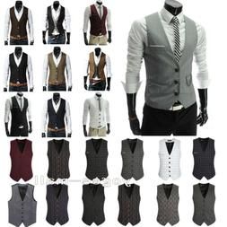 Men's Dress Suit Vest Formal Business Wedding Tuxedo Waistco
