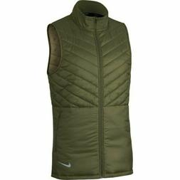 Nike Aerolayer Men's Running Vest AH0546 395 Olive Green NWT
