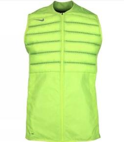 NIKE MEN'S AEROLOFT GOLF Puffer VEST DRI-FIT VOLT Yellow  80