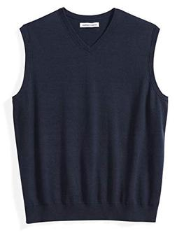 Amazon Essentials Men's Big and Tall V-Neck Sweater Vest, Na