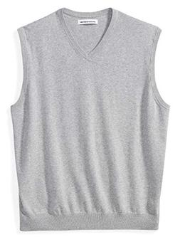 Amazon Essentials Men's Big and Tall V-Neck Sweater Vest, Li