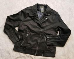 "BNWT All Saints ""XL"" LOMI Biker Leather Jacket For Men World"