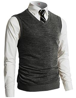 H2H Mens Slim Fit Shawl Knitted Pullover Sweaters Cardigan V