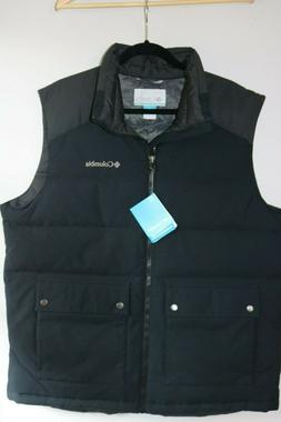 Columbia Men's Winter Challenger Down Vest, Black/Shark, Lar