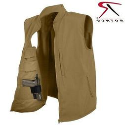 Rothco Concealed Carry Soft Shell Vest - Men's Coyote Brown