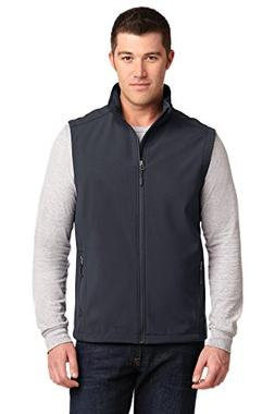 Port Authority Men's Core Soft Shell Vest L Battleship Grey