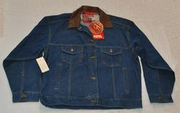 Marlboro Country Store Men's Denim Jacket w Leather collar