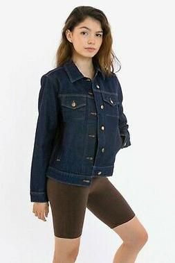 American Apparel Dark Wash Denim Jacket, 2X-Small, X-Small,