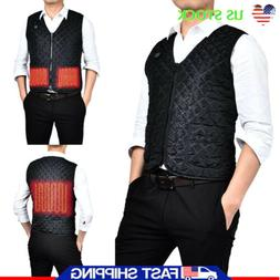 Electric USB Heated Warm Vest Men Heating Coat Jacket Winter