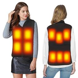FERNIDA Electric Warm Waistcoat High Collar Heated Vest Heat