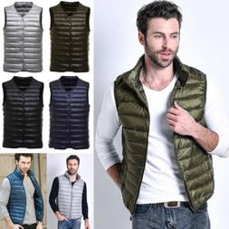 Fashion Men Down Coat Vest Men's Thick Outerwear Sleeveless