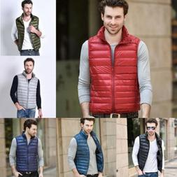 Fashion Men's Coat Vest Tops Winter Thick Outerwear Sleevele