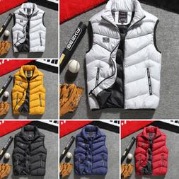 Fashion Men Warm Vest Casual Sleeveless Jacket Coat Outwear