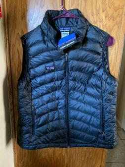 PATAGONIA Goose Down Sweater Vest Black Puffer Womens Size L