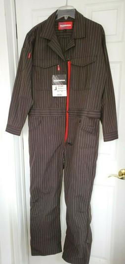 HUMMER H1 H2 H3 OVERALLS BLACK PINSTRIPE LARGE NEW WITH TAGS
