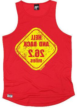 Hell And Back 26.2 Miles MENS DRY FIT VEST singlet gift birt