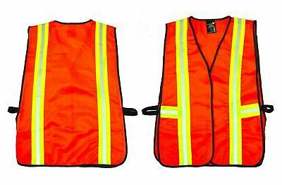 G & F 41113 Industrial Safety Vest with Reflective Stripes,