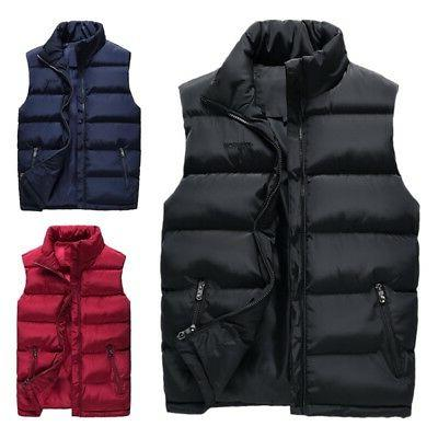 Mens Lightweight Active Quilted Padding Puffer Vest Winter W