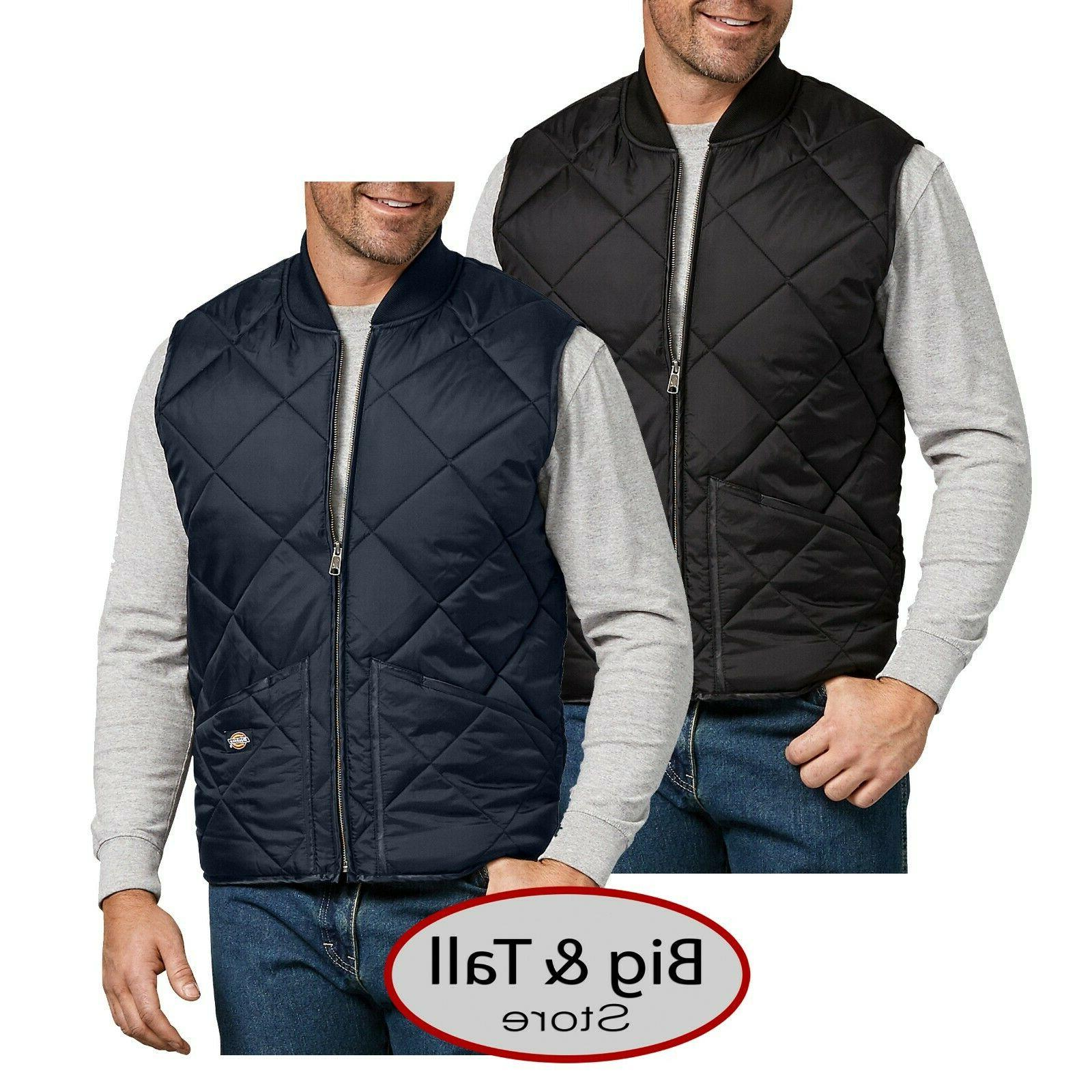 big and tall mens full zip quilted