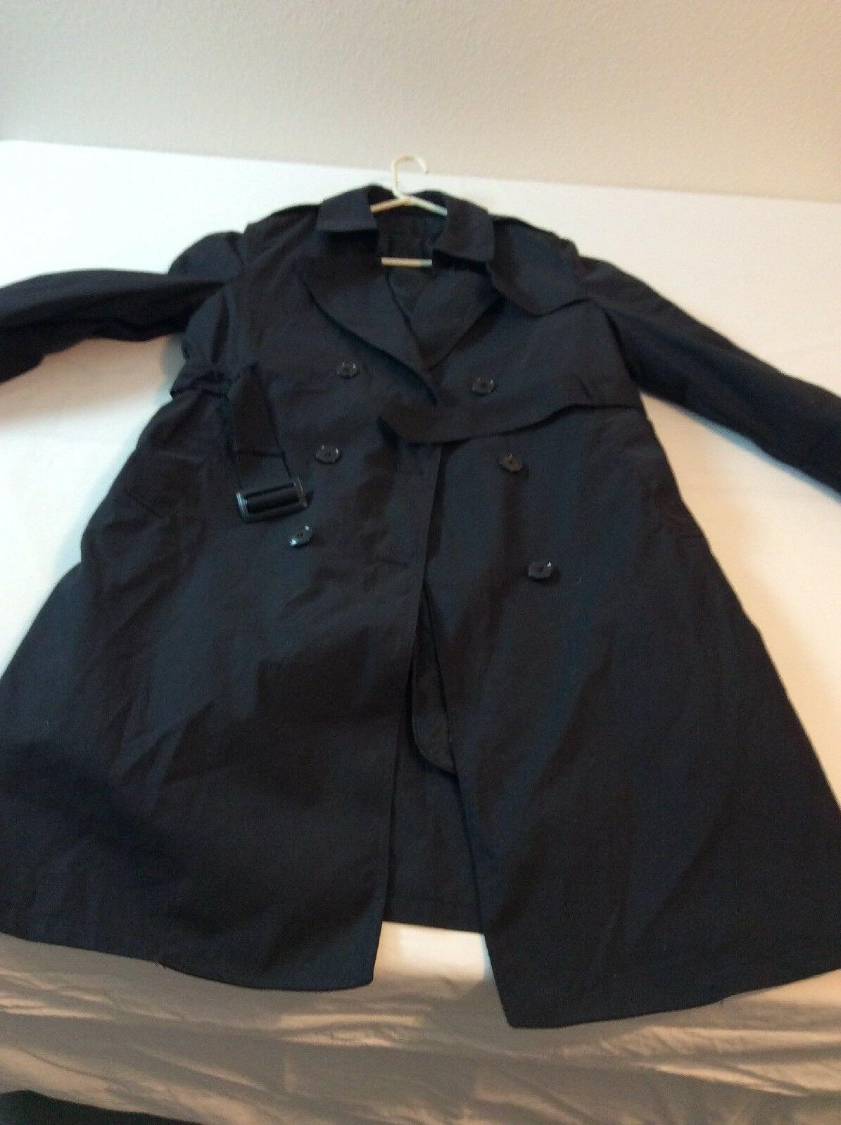 Black Apparel Size Rain Trench Coat Lining