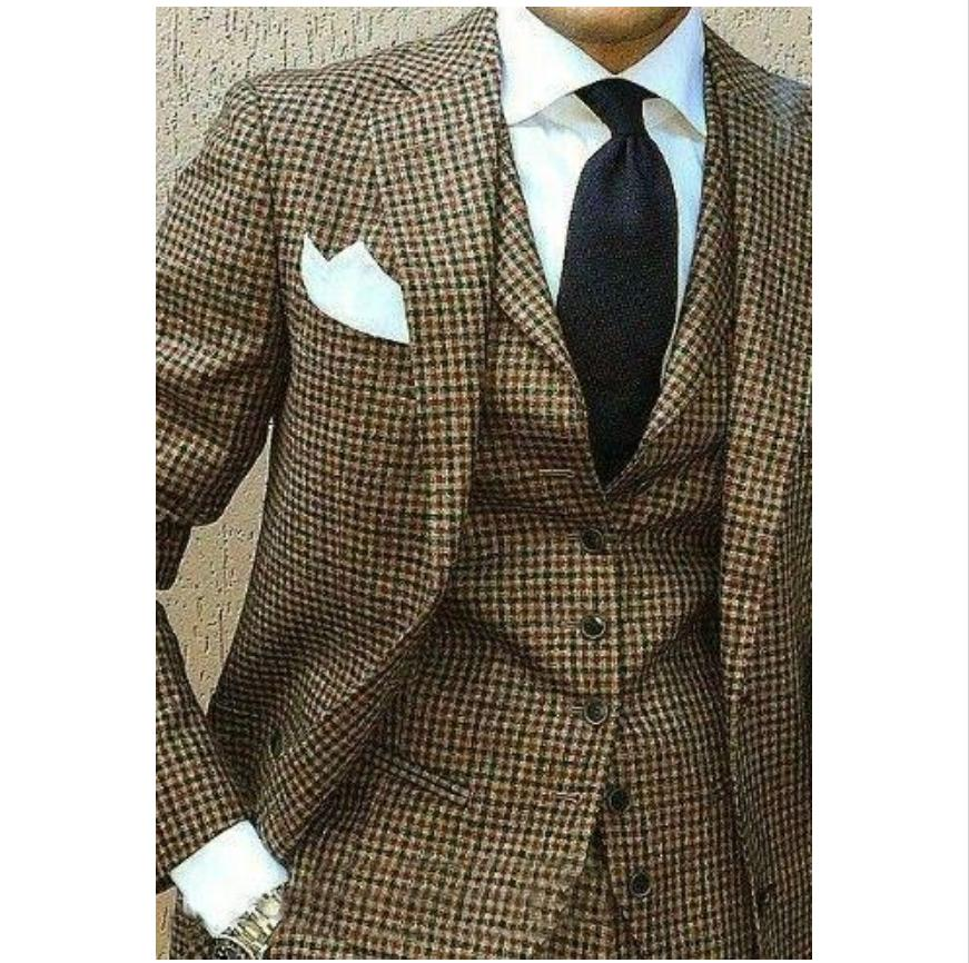 coats pants houndstooth mens suits slim fit