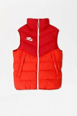 down fill windrunner vest gym red habanero