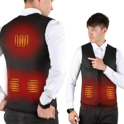 Electric Heated Jacket USB Thermal Up Heating Body Winter