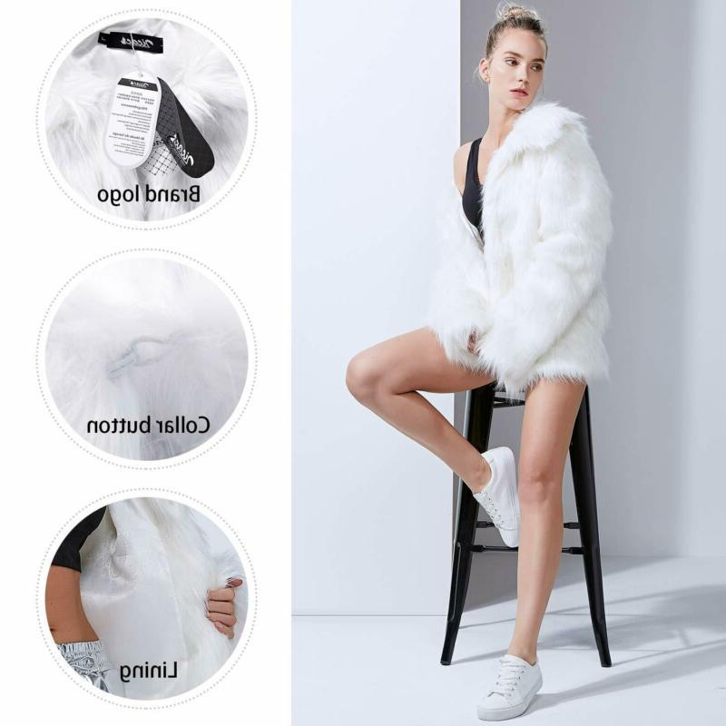 Zicac Faux Fur Winter Luxury Long Sleeve Parka Out