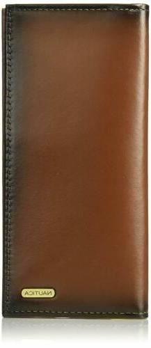 New Nautica Men's Leather Secretary Organizer Card ID Purse