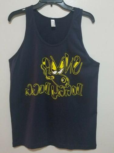 AMERICAN APPAREL LOGO DOGGY DOGG MEN'S VEST NAVY SIZE MEDIUM