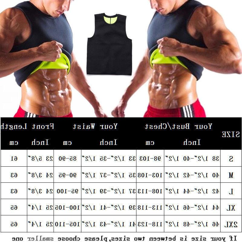 Men Sauna Vest Ultra Shirt Shaper Tank AM