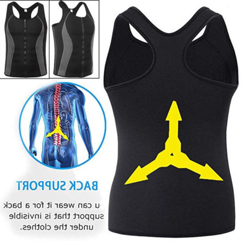 Men Gym Sauna Vest Ultra Shirt Body Slimming Tank AM