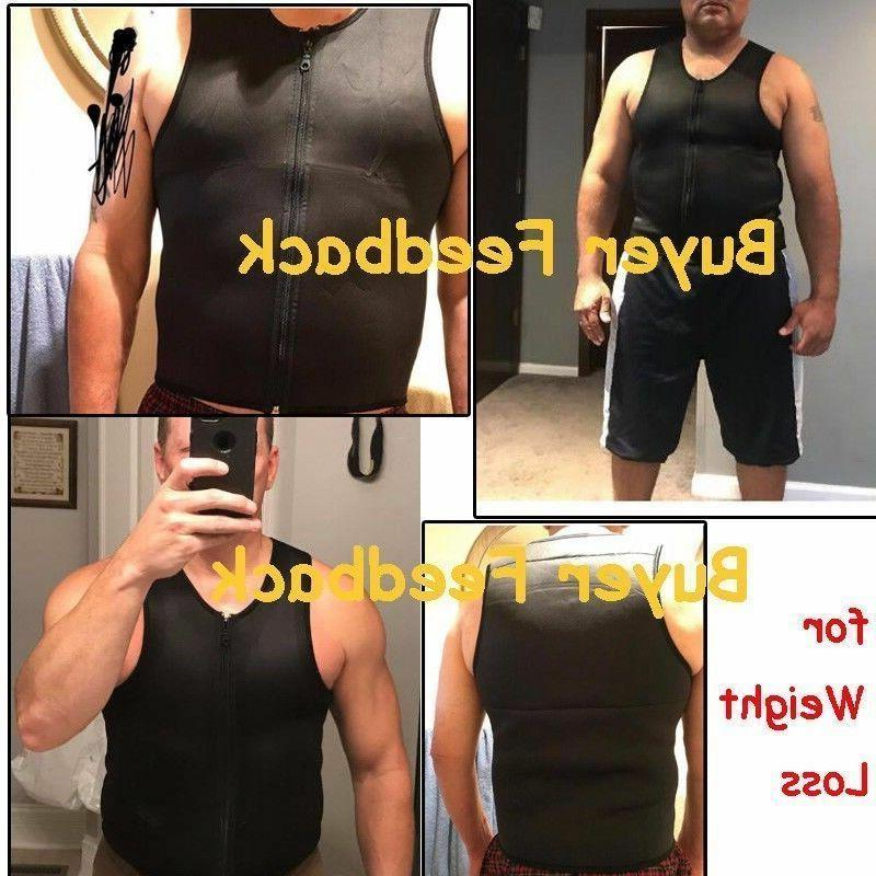 Men Gym Neoprene Sauna Vest Ultra Shirt Shaper Slimming Tank AM