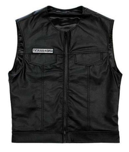 Men of Anarchy Leather Vest Arms