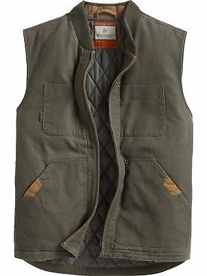 men s canvas cross trail vest