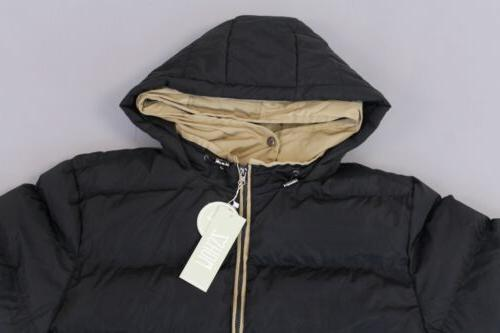 ZSHOW Double Hooded Quilted Coat KB8 Black US:XL NWT