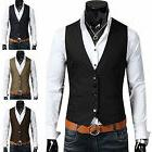 Men's Formal Business Slim Fit Dress Vest Suit Tuxedo Waistc