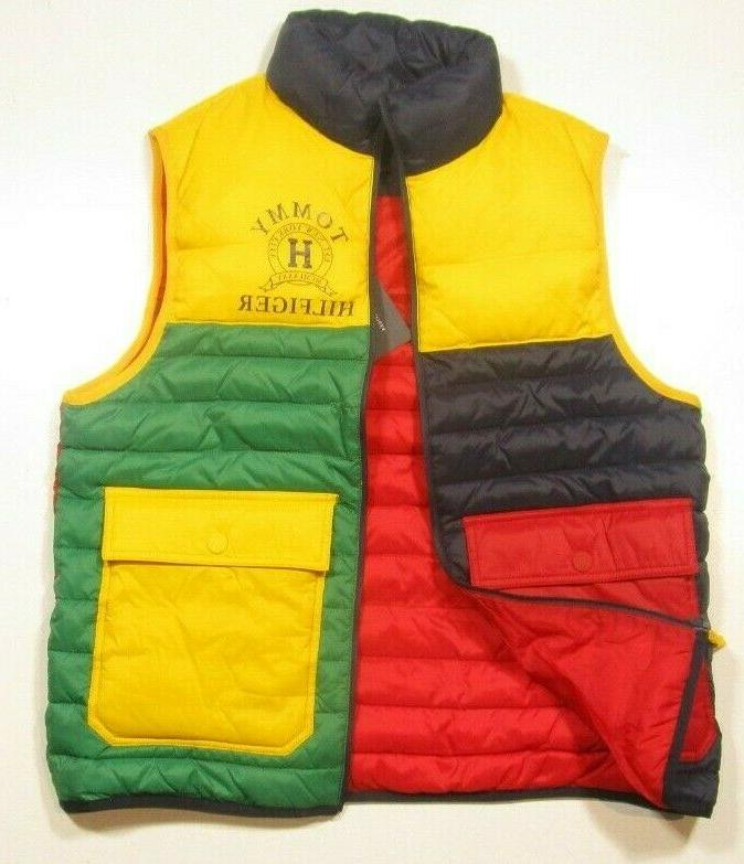 Tommy Zip Multi Quilted Colorblocked