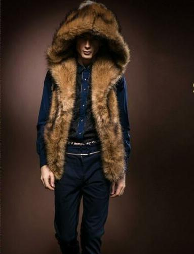 Men's Hooded Vest Coat