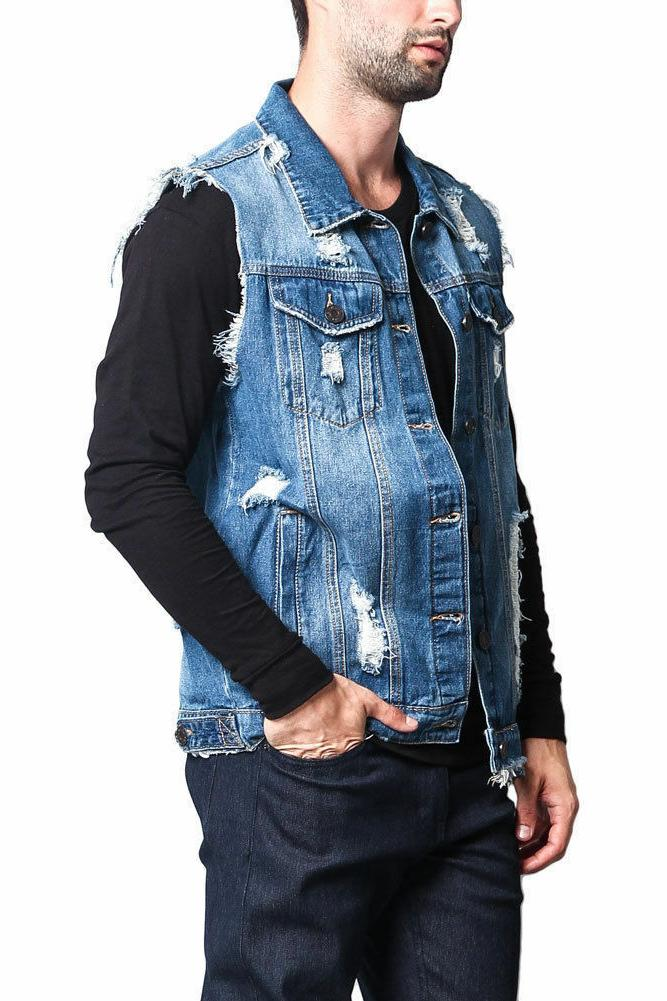 H2H Mens Casual Thin Fabric Knitted Sweater Cool Henley Vest